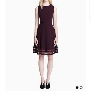 💙SOLD💙 Burgundy Calvin Klein Midi Dress